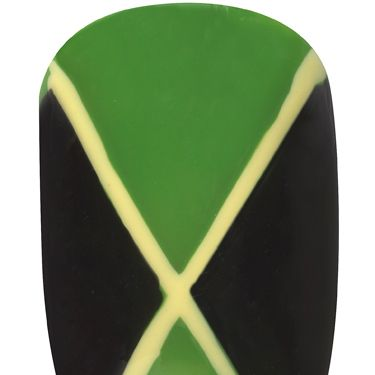 <p>Hitting the Notting Hill Carnival this bank holiday? Make your nails as colourful as the costumes with this Jamaican flag nail art.</p><p>1. Apply two coats of Max Colour Effect Mini Nail Polish in Cactus Green over the whole nail<br />1. With a fine nail brush, fill in two outside triangles with Glossfinity Nail Polish in Blackout <br />2. Draw a cross shape across the nail using Max Colour Effect Nail Polish in Mellow Yellow using a fine brush<br />3. Finish with a coat of Glossfinity Nail Polish Top Coat</p>