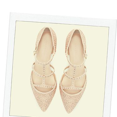 """<p>When you're going out and want to switch your heels for flats (we've all been there), make sure you choose a pretty pair like these embellished points from Zara. Tres Valentino, dah-ling.</p><p>Shiny pointy flats, £59.99, <a title=""""http://www.zara.com/uk/en/woman/shoes/shiny-pointy-ballerina-c269191p1296407.html"""" href=""""http://www.zara.com/uk/en/woman/shoes/shiny-pointy-ballerina-c269191p1296407.html"""" target=""""_blank"""">Zara</a></p>"""
