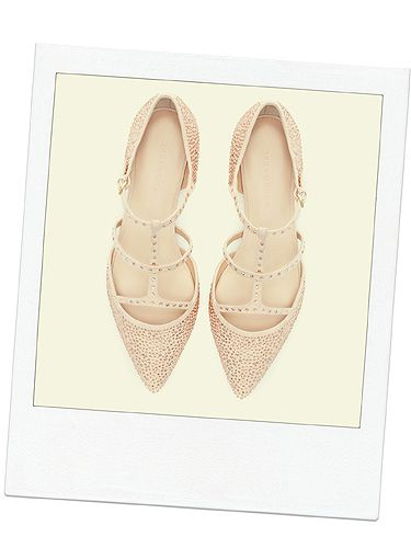 "<p>When you're going out and want to switch your heels for flats (we've all been there), make sure you choose a pretty pair like these embellished points from Zara. Tres Valentino, dah-ling.</p> <p>Shiny pointy flats, £59.99, <a title=""http://www.zara.com/uk/en/woman/shoes/shiny-pointy-ballerina-c269191p1296407.html"" href=""http://www.zara.com/uk/en/woman/shoes/shiny-pointy-ballerina-c269191p1296407.html"" target=""_blank"">Zara</a></p>"