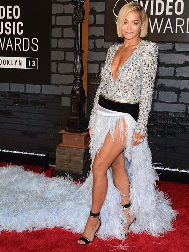 """<p>Rita Ora's dress was so phenomenal it deserved an article all of its own - see loads more pictures of her enormous gown <a href=""""http://www.cosmopolitan.co.uk/fashion/news/rita-ora-dress-mtv-vmas-2013"""" target=""""_blank"""">here</a>.</p>"""