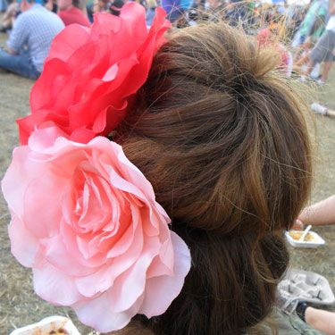 <p>A big, tousled bun is a definite festival winner. Using a hair donut can give the illusion of voluminous, blow-dried locks, when secretly they're just covered in dry shampoo and you want them away from your neck.</p>