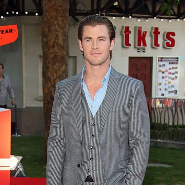 <p>Chris Hemsworth was looking every inch the leading man as he made his way down the red carpet in London's Leicester Square</p>