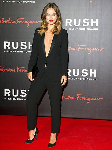 "<p>Olivia Wilde got pulses racing in her sexy Gucci suit and statement red lipstick for the premiere. Suzy Miller – her character/stunning model – Suzy Miller would be proud.</p> <p><a href=""http://www.cosmopolitan.co.uk/celebs/entertainment/olivia-wilde-chris-hemsworth-rush"" target=""_blank"">OLIVIA WILDE TALKS TO COSMO ABOUT CHRIS HEMSWORTH</a></p> <p><a href=""http://www.cosmopolitan.co.uk/celebs/entertainment/actors-with-or-without-beards"" target=""_blank"">HOLLYWOOD HUNKS - BEARD OR NO BEARD?</a></p> <p><a href=""http://www.cosmopolitan.co.uk/celebs/entertainment/"" target=""_blank"">SEE MORE ENTERTAINMENT NEWS HERE</a></p>"
