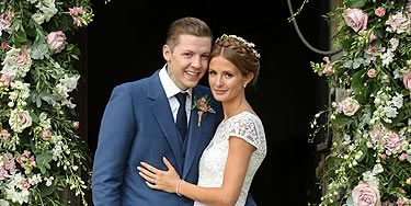 """<p>The first official pictures of the happy couple couldn't be any more perfect if they tried. We don't know if <a href=""""http://www.cosmopolitan.co.uk/celebs/celebrity-gossip/rss/millie-mackintosh-engaged-to-professor-green-quits-made-in-chelsea"""" target=""""_blank"""">Millie Mackintosh</a> has taken Pro Green's name – Stephen Manderson – but we think Millie Manderson sounds rather lovely.</p>"""