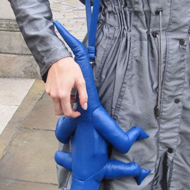 This lizard bag was designed by Christopher Raeburn for American Express!