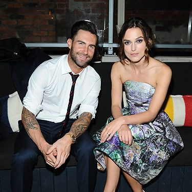 <p>Adam Levine and Keira Knightley kept close after the screening of their highly-anticipated film, Can a song save your life?</p>