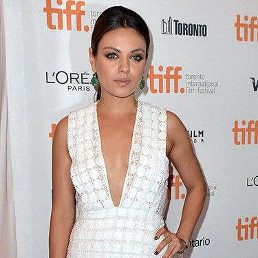 <p>Mila Kunis wowed in Burberry at the photocall of her film, Third Person.</p>