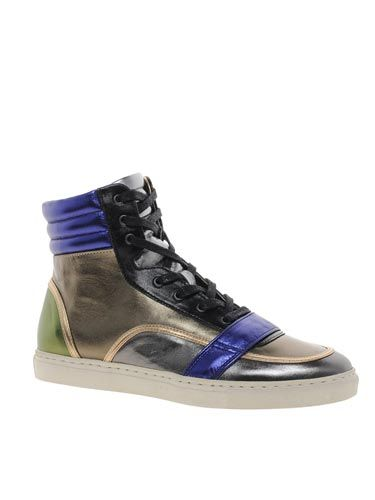"<p>Man of the moment Markus Lupfer tries his hand at trainers and we ADORE them. Get yours before they're gone.</p> <p>Metallic hi-top trainers, £249, Markus Lupfer at <a href=""http://www.asos.com/Markus-Lupfer/Markus-Lupfer-High-Top-Trainers/Prod/pgeproduct.aspx?iid=3156391&cid=4172&Rf947=2586&sh=0&pge=0&pgesize=36&sort=2&clr=Multi"" target=""_blank"">ASOS</a></p> <p> </p>"