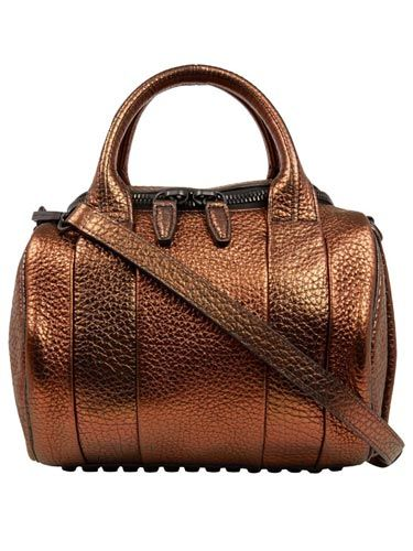 "<p>A fashion week favourite and spotted on all of our favourite celebs, this Alexander Wang bronze Rockie bag is one super statement handbag.</p> <p>Bronze Rockie bag, £650, Alexander Wang at <a href=""http://www.liberty.co.uk/fcp/product/Liberty/BAGS/Brown-Rockie-Metallic-Pebble-Leather-Bag/90776"" target=""_blank"">Liberty</a></p> <p> </p>"