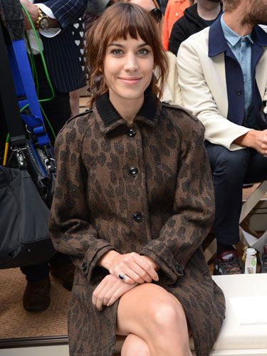 <p>Alexa Chung didn't let the rain affect her as she kept warm in her seat in a gorgeous leopard print coat. Good thing wasn't sat next to Harry Styles at the Burberry show.</p>