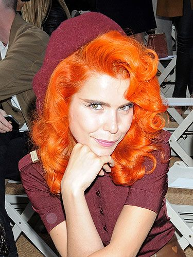 <p>Paloma Faith clearly modelled her look on Jessica Rabbit for the Burberry spring/summer '14 show!</p>