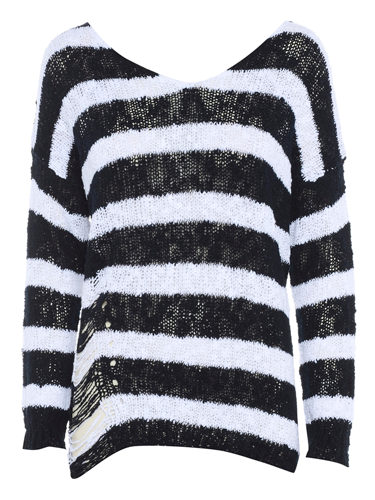 "<p>Super punky stripe jumper featuring slashed detail at the bottom and criss cross back. Yeah!</p> <p>Punky stripe jumper, now £25, <a href=""http://www.meemee.com/punky-stripe-jumper.html"" target=""_blank"">meemee.com</a></p> <p><a href=""http://www.cosmopolitan.co.uk/fashion/fashion-week-2013"" target=""_blank"">SHOP: TEN OF THE BEST TARTAN FINDS</a></p> <p><a href=""http://www.cosmopolitan.co.uk/fashion/fashion-week-2013"" target=""_blank"">SEE: COSMO FASHION DAILY</a></p> <p><a href=""http://www.cosmopolitan.co.uk/fashion/news/"" target=""_blank"">GET THE LATEST FASHION AND STYLE NEWS</a></p>"