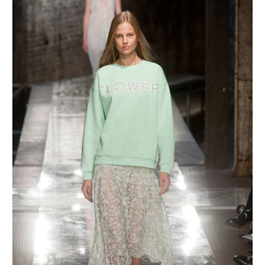 <p><strong></strong>Snap up a statement sweater this season (preferably in a pastel hue) and it will see you through into spring. Flower motifs are the new logos - and the only way to wear for spring 2014 is paired with a skirt a la Christopher Kane (pictured).</p>
