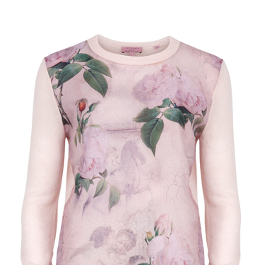 "<p>Romantic print jumper, £99, <a href=""http://www.tedbaker.com/women%27s/women%27s_clothing/knitwear/list.aspx#-&styCode=105406&colRef=58-LIGHT%20PINK&path=/women%27s/women%27s%20clothing/knitwear/"" target=""_blank"">tedbaker.com</a></p>