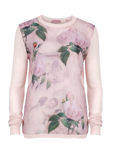 "<p>Romantic print jumper, £99, <a href=""http://www.tedbaker.com/women%27s/women%27s_clothing/knitwear/list.aspx#-&styCode=105406&colRef=58-LIGHT%20PINK&path=/women%27s/women%27s%20clothing/knitwear/"" target=""_blank"">tedbaker.com</a></p> <p><a href=""http://www.cosmopolitan.co.uk/fashion/news/first-look-cosmo-fashion-magazine"" target=""_blank"">FIRST LOOK: COSMO'S NEW FASHION MAGAZINE</a></p> <p><a href=""http://www.cosmopolitan.co.uk/fashion/winter-fashion-trends-2013/"" target=""_blank"">WEAR NOW: WINTER FASHION TRENDS 2013</a></p> <p><a href=""http://www.cosmopolitan.co.uk/fashion/news/"" target=""_blank"">GET THE LATEST FASHION AND STYLE NEWS</a></p>"