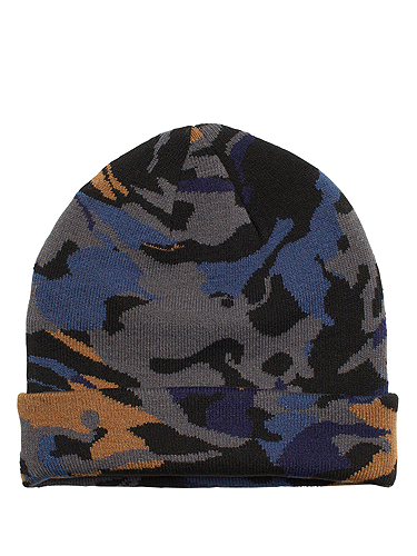 "<p>Camo is the print to be seen in (or not seen) this season. Get a head start - literally, LOL! - with this brilliant beanie.</p> <p>Camo beanie, £6, <a href=""http://www.monki.com/Shop#dialog-1"" target=""_blank"">monki.com</a></p>"