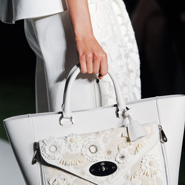 """<p><span>Hello lover! This is the Mulberry bag of dreams. But you'd have to keep it WELL away from red wine / the Tube.<br /></span></p><p><span>Mulberry, London Fashion Week SS14 collection, September 2013.</span></p><p><span><a href=""""http://www.cosmopolitan.co.uk/fashion/shopping/shop-30-best-transitional-accessories-shoes-and-bags-9#fbIndex9"""" target=""""_blank"""">TOP 30 ACCESSORIES FOR WINTER 2013</a></span></p><p><span><a href=""""http://www.cosmopolitan.co.uk/fashion/shopping/the-fashion-fix-shop-bargain-buys"""" target=""""_blank"""">SHOP FASHION FOR £10 OR LESS!</a><br /></span></p><p><span><span><a href=""""http://www.cosmopolitan.co.uk/fashion/winter-fashion-trends-2013/"""" target=""""_blank"""">SEE THE LATEST WINTER FASHION TRENDS 2013</a></span><br /></span></p>"""