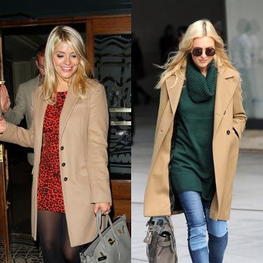 """<p>Celebrity besties Fearne Cotton (our Cosmo cover girl this month) and Holly Willoughby both stepped out in camel coats this week, a hot trend for Autumn/Winter 13. Holly was seen wearing hers earlier this week as she arrived at the Celebrity Juice studios, and sported it again last night at the <span>private view of Dan Baldwin's 'Fragile' solo exhibition at Gallery 8. Fearne looked chic in her camel coat at the BBC Radio 1 studios on Wednesday. </span></p><p>In homage to the camel coat trend, we've rounded up our three favourite coats on the high street. </p><h3>More celebrity fashion</h3><p><a href=""""http://www.cosmopolitan.co.uk/fashion/celebrity/who-wore-it-best-celebrities-in-the-same-outfits"""" target=""""_blank"""">WHO WORE IT BEST - CELEBRITIES IN THE SAME OUTFITS</a></p><p><a href=""""http://www.cosmopolitan.co.uk/fashion/celebrity/celebs-front-row-new-york-fashion-week"""" target=""""_blank"""">CELEBS ON THE FROW AT FASHION WEEK</a></p><p><a href=""""http://www.cosmopolitan.co.uk/fashion/celebrity/celebrity-wedding-dresses"""" target=""""_blank"""">MILLIE MACKINTOSH'S VINTAGE ALICE TEMPERLEY WEDDING DRESS</a></p>"""