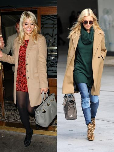 <p>Celebrity besties Fearne Cotton (our Cosmo cover girl this month) and Holly Willoughby both stepped out in camel coats this week, a hot trend for Autumn/Winter 13. Holly was seen wearing hers earlier this week as she arrived at the Celebrity Juice studios, and sported it again last night at the <span>private view of Dan Baldwin's 'Fragile' solo exhibition at Gallery 8. Fearne looked chic in her camel coat at the BBC Radio 1 studios on Wednesday. </span></p>