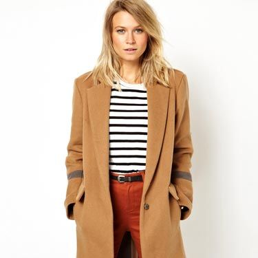 """<p>We love the slightly over-sized shape of this one, making it the ultimate casual camel coat, perfect for blustery autumn days. Pair with jeans, boots and a thick polo-neck for a city-chic look. </p><p>Knee-length over coat, £85, <a href=""""http://www.asos.com/ASOS/ASOS-Knee-Length-Over-Coat/Prod/pgeproduct.aspx?iid=2959036&cid=2641&Rf-200=25&sh=0&pge=0&pgesize=36&sort=-1&clr=Camel"""" target=""""_blank"""">ASOS</a> </p>"""