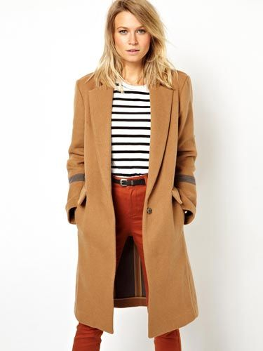 <p>We love the slightly over-sized shape of this one, making it the ultimate casual camel coat, perfect for blustery autumn days. Pair with jeans, boots and a thick polo-neck for a city-chic look. </p>