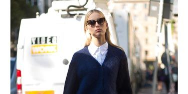 """<p>Model Karolina Kurkova looked city chic wearing Antipodium for <a href=""""http://www.asos.com/ASOS/Antipodium-For-ASOS-Climax-Lace-Up/Prod/pgeproduct.aspx?iid=3092082&cid=8337&Rf900=1562&sh=0&pge=0&pgesize=36&sort=-1&clr=Whitenavy"""" target=""""_blank"""">ASOS</a> white lace up shoes with a crisp white shirt and midnight blue buttoned-up cardigan. We love her cats-eye shades as well. </p> <p><a href=""""http://www.cosmopolitan.co.uk/fashion/celebrity/milan-fashion-week-2013-celebrities"""" target=""""_blank"""">CELEBS PARTY IN STYLE IN MILAN</a></p> <p><a href=""""http://www.cosmopolitan.co.uk/fashion/news/kate-moss-stuart-weitzman-video"""" target=""""_blank"""">SEE KATE MOSS STRUT HER STUFF IN LONDON</a></p> <p><a href=""""http://www.cosmopolitan.co.uk/fashion/news/Gwyneth-Paltrow-Matthew-Williamson-Goop"""" target=""""_blank"""">GWYNETH'S GOOP COLLABORATION WITH MATTHEW WILLIAMSON</a></p>"""
