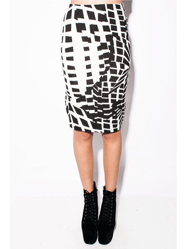 """<p>What's black, white and rad all over? This skirt. <a href=""""http://www.shelikes.com/penni-black-v-neck-cap-sleeve-skater-dress-mwd-18-20.html"""" target=""""_blank"""">Moncohrome </a>was a huge trend for summer and it's set to stick around for winter. Team this geometric style with a tailored blazer and heels for sexy secretarial chic.</p> <p>Monochrome pencil skirt, £4.99, <a href=""""http://www.daisystreet.co.uk/alina-geometric-monochrome-jersey-midi-pencil-skirt"""" target=""""_blank"""">daisystreet.co.uk</a></p> <p><a href=""""http://www.cosmopolitan.co.uk/fashion/shopping/womens-clothing-under-ten-pounds"""" target=""""_blank"""">Affordable fashion finds for £10 or less</a></p> <p><a href=""""http://www.cosmopolitan.co.uk/fashion/shopping/primark-winter-2013-fashion-trends"""" target=""""_blank"""">Shop Primark's winter fashion collection</a></p> <p><a href=""""http://www.cosmopolitan.co.uk/fashion/news/"""" target=""""_blank"""">See the latest fashion and style news</a></p>"""