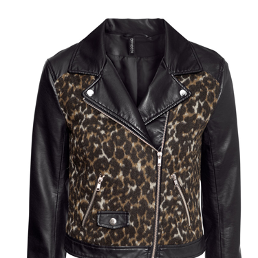 """<p>It's like your trusty biker jacket, only better. And more leopardy.</p><p>Leopard biker jacket, £34.99, <a href=""""http://www.hm.com/gb/product/17179?article=17179-A"""" target=""""_blank"""">hm.com</a></p><p><a href=""""http://www.cosmopolitan.co.uk/fashion/shopping/the-fashion-fix-shop-bargain-buys"""" target=""""_blank"""">SHOP DAILY FASHION FINDS FOR £10 OR LESS!</a></p><p><a href=""""http://www.cosmopolitan.co.uk/fashion/shopping/winter-fashion-trend-2013-checks"""" target=""""_blank"""">WINTER FASHION TREND: PUNKY PIECES</a></p><p><a href=""""http://www.cosmopolitan.co.uk/fashion/news/"""" target=""""_blank"""">SEE THE LATEST FASHION NEWS</a></p>"""