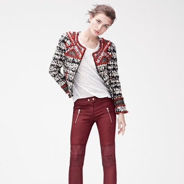 <p>From the embellished tie-dye jacket and leather-look skinnies, we want this look. ALL OF IT.</p>