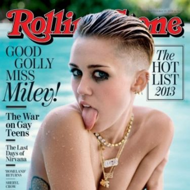 """Miley's most recent cover is her October 2013 Rolling Stones shoot, released today. It sees her in her usual pose of tongue out, eyes centre, this time chilling in a swimming pool. It's sultry, very sexy and just a bit naked.<p><a href=""""http://www.cosmopolitan.co.uk/celebs/entertainment/singers-crying-on-stage-video"""" target=""""_blank"""">MILEY CRIES SINGING WRECKING BALL - WATCH</a></p><p><a href=""""http://www.cosmopolitan.co.uk/celebs/entertainment/miley-cyrus-rolling-stone-interview"""" target=""""_blank"""">READ MILEY'S ROLLING STONE INTERVIEW</a></p>"""