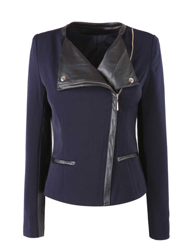 "<p>Don a biker jacket to get instant 'off-duty-model' chic. The black leather-look trim make this bad boy extra spesh.</p> <p>Navy biker jacket, £35, <a href=""http://www.fashionunion.com/biker-jackets/navy-double-breasted-biker-jkt-with-pu-trims/invt/wjab0178nay"" target=""_blank"">fashionunion.com</a></p> <p><strong>More fashion trends</strong></p> <p><a href=""http://www.cosmopolitan.co.uk/fashion/shopping/pink-coat-winter-fashion-trends-2013"" target=""_blank"">SHOP: 10 of the best pink coats</a><br /><a href=""http://www.cosmopolitan.co.uk/fashion/shopping/"" target=""_blank"">Fashion: What to buy right now</a><br /><a href=""http://www.cosmopolitan.co.uk/beauty-hair/beauty-lab"" target=""_blank"">Hair and beauty reviews</a></p>"