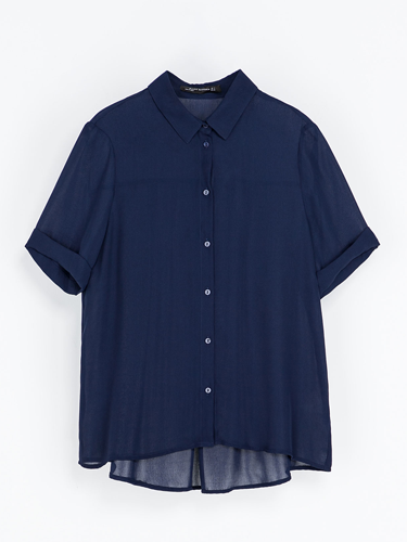 "<p>A simple shirt should be a style staple in anyone's wardrobe, but especially a slinky navy number like this one. Sling on and half tuck into your skinnies for proper Parisian chic.</p> <p>Navy shirt, £29.9, <a href=""http://www.zara.com/uk/en/woman/shirts/shirt-with-a-pleat-in-the-back-c269186p1414525.html"" target=""_blank"">zara.com</a></p> <p><strong>More fashion trends</strong></p> <p><a href=""http://www.cosmopolitan.co.uk/fashion/shopping/pink-coat-winter-fashion-trends-2013"" target=""_blank"">SHOP: 10 of the best pink coats</a><br /><a href=""http://www.cosmopolitan.co.uk/fashion/shopping/"" target=""_blank"">Fashion: What to buy right now</a><br /><a href=""http://www.cosmopolitan.co.uk/beauty-hair/beauty-lab"" target=""_blank"">Hair and beauty reviews</a></p>"