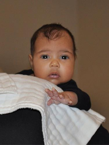 <p>With a name like North West you expect some serious swagger - especially being the product of Kim Kardashian and Kanye West. Whilst we admit he is pretty cool, this pic that mum Kim instagrammed is the definition of CUTE.</p>