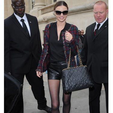 "<p>Model Miranda Kerr looks just as stylish off the catwalk as on it, wearing off-duty grungy <a href=""http://www.cosmopolitan.co.uk/fashion/shopping/tartan-trousers-winter-fashion-trends-2013"" target=""_blank"">tartan</a> and leather.</p><p><a href=""http://www.cosmopolitan.co.uk/fashion/shopping/paris-fashion-week-street-style"" target=""_blank"">SEE: PARIS FASHION WEEK STREET STYLE</a></p><p><a href=""http://www.cosmopolitan.co.uk/fashion/shopping/shop-payday-fashion-treats"" target=""_blank"">TREAT YOURSELF: STYLISH PAYDAY SPLURGES</a></p><p><a href=""http://www.cosmopolitan.co.uk/fashion/celebrity/"" target=""_blank"">GET THE LATEST CELEBRITY TREND NEWS</a></p>"