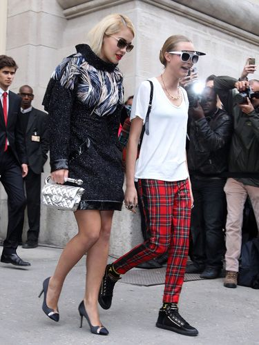 "<p>Ain't it good to see Cara Delevingne and wifey Rita Ora reunited? Our favourite fashion couple, EVER.</p> <p><a href=""http://www.cosmopolitan.co.uk/fashion/shopping/paris-fashion-week-street-style"" target=""_blank"">SEE: PARIS FASHION WEEK STREET STYLE</a></p> <p><a href=""http://www.cosmopolitan.co.uk/fashion/shopping/shop-payday-fashion-treats"" target=""_blank"">TREAT YOURSELF: STYLISH PAYDAY SPLURGES</a></p> <p><a href=""http://www.cosmopolitan.co.uk/fashion/celebrity/"" target=""_blank"">GET THE LATEST CELEBRITY TREND NEWS</a></p>"