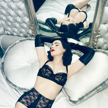 "<p><a href=""http://www.cosmopolitan.co.uk/celebs/entertainment/dita-von-teese-talks-von-follies-underwear-collection-for-debenhams-4688"" target=""_blank"">Dita Von Teese</a>'s latest Von Follies lingerie collection is called Sheer Witchery.</p>