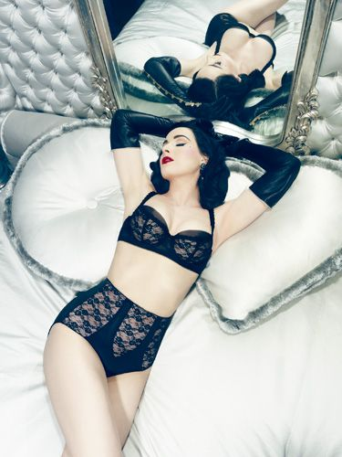 "<p><a href=""http://www.cosmopolitan.co.uk/celebs/entertainment/dita-von-teese-talks-von-follies-underwear-collection-for-debenhams-4688"" target=""_blank"">Dita Von Teese</a>'s latest Von Follies lingerie collection is called Sheer Witchery.</p> <p>Launching ahead of Halloween, it has a sexy, spooky feel with lots of black lace sure to put a spell on your lucky 'victim'!<br /><br />As Von Teese herself says: ""I think every woman should have a really great set of lingerie, especially in black.""</p> <p>We think so too, which is why we'll take one of everything, thanks.</p> <p><em>Von Follies By Dita Von Teese available at <a href=""http://www.asos.com/search/von-follies?hrd=1&q=von+follies&SearchSuggestUsed=true#parentID=-1&pge=0&pgeSize=36&sort=1"" target=""_blank"">asos.com</a> and <a href=""http://www.debenhams.com/lingerie/von-follies-by-dita-von-teese"" target=""_blank"">debenhams.com</a>.</em></p> <p><strong>CLICK THROUGH TO SEE THE FULL COLLECTION >></strong></p> <p><a href=""http://www.cosmopolitan.co.uk/fashion/news/dita-von-teese-bra-fashion-week"" target=""_blank"">Dita Von Teese at Paris Fashion Week</a></p> <p><a href=""http://cosmopolitan.co.uk/fashion/shopping/best-bright-colourful-lingerie-underwear-sets-bras-knickers?click=main_sr"">10 best bright lingerie sets</a></p> <p><a href=""http://www.cosmopolitan.co.uk/fashion/winter-fashion-trends-2013/"" target=""_blank"">Shop the latest winter fashion trends</a></p>"