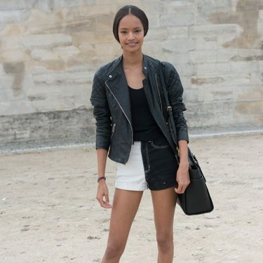 """<p>Model Malaika Firth is channelling her inner rock chick, toughening up her two-tone denim shorts with a quilted leather jacket and a heavy biker boots. </p><p><a href=""""http://www.cosmopolitan.co.uk/fashion/shopping/cosmopolitan.co.uk/fashion/shopping/milan-fashion-week-street-style"""" target=""""_blank"""">Milan Fashion Week street style</a></p><p><a href=""""http://www.cosmopolitan.co.uk/fashion/shopping/cool-street-style-at-london-fashion-week"""" target=""""_blank"""">London Fashion Week street style</a></p><p><a href=""""http://www.cosmopolitan.co.uk/fashion/winter-fashion-trends-2013/"""" target=""""_blank"""">See the latest winter fashion trends</a></p>"""
