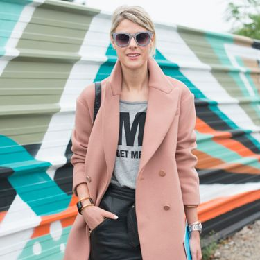 """<p>Fashion blogger Sophie Valkiers pays homage to the pink coat - the staple item of the season - teaming it with a skirt by The Kooples, a top of her own design and Christian Louboutin boots. </p><p><a href=""""http://www.cosmopolitan.co.uk/fashion/shopping/cosmopolitan.co.uk/fashion/shopping/milan-fashion-week-street-style"""" target=""""_blank"""">Milan Fashion Week street style</a></p><p><a href=""""http://www.cosmopolitan.co.uk/fashion/shopping/cool-street-style-at-london-fashion-week"""" target=""""_blank"""">London Fashion Week street style</a></p><p><a href=""""http://www.cosmopolitan.co.uk/fashion/winter-fashion-trends-2013/"""" target=""""_blank"""">See the latest winter fashion trends</a></p>"""