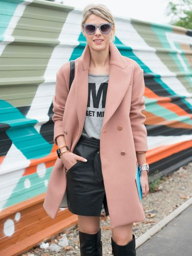 "<p>Fashion blogger Sophie Valkiers pays homage to the pink coat - the staple item of the season - teaming it with a skirt by The Kooples, a top of her own design and Christian Louboutin boots. </p> <p><a href=""http://www.cosmopolitan.co.uk/fashion/shopping/cosmopolitan.co.uk/fashion/shopping/milan-fashion-week-street-style"" target=""_blank"">Milan Fashion Week street style</a></p> <p><a href=""http://www.cosmopolitan.co.uk/fashion/shopping/cool-street-style-at-london-fashion-week"" target=""_blank"">London Fashion Week street style</a></p> <p><a href=""http://www.cosmopolitan.co.uk/fashion/winter-fashion-trends-2013/"" target=""_blank"">See the latest winter fashion trends</a></p>"