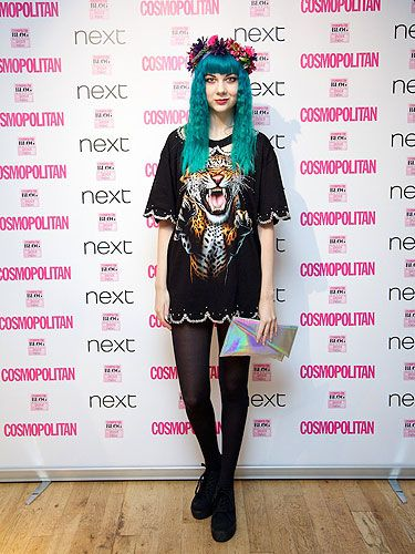 "<p><a href=""http://thelondonlipgloss.blogspot.com"" target=""_blank"">Zoe</a> is never afraid to take risks with fashion and not only are we seriously loving her blue hair, but we adore her Avion en Papler dress, <a href=""http://www.cosmopolitan.co.uk/fashion/shopping/kelly-brook-new-look-aw13?click=main_sr"" target=""_blank"">New Look</a> heels and floral crown by Rock n Rose.</p> <p> </p> <p> </p> <p><a href=""http://www.cosmopolitan.co.uk/blogs/cosmo-blog-awards-2013/cosmo-blog-awards-2013-winners"" target=""_blank"">COSMO BLOG AWARDS 2013: WINNERS AND HIGHLY COMMENDED</a></p>"