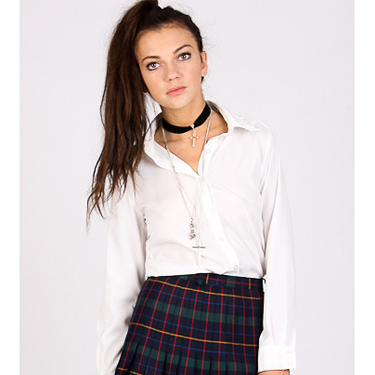 """<p>Dressing like a schoolgirl is a bit of a 'thang' this season so take it one step further for a spooky yet stylish Halloween outfit. Channel Cher from Clueless or, like, ALL of the girls from The Craft and wear a flirty tartan mini skirt with a crisp white shirt, over-knee socks and a black choker necklace for a 90s costume mash-up that's totally on trend. Plus, you'll look hot, too.</p><p>Tartan skirt, £28, <a href=""""http://yayer.com/collections/just-in/products/tartan-tribe-skirt"""" target=""""_blank"""">yayer.com</a></p><p><a href=""""http://www.cosmopolitan.co.uk/fashion/shopping/dita-von-teese-von-follies-halloween-lingerie"""" target=""""_blank"""">SHOP Dita Von Teese's Halloween-themed lingerie</a></p><p><a href=""""http://cosmopolitan.co.uk/beauty-hair/beauty-tips/mac-halloween-collection-with-rick-baker-bride-how-to?click=main_sr"""">MAC Halloween makeup how-to: Bride</a></p><p><a href=""""http://www.cosmopolitan.co.uk/fashion/shopping/"""" target=""""_blank"""">SEE the latest fashion and shopping news</a></p>"""