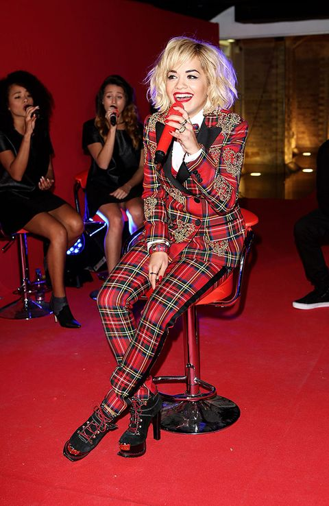 "<p>Rita Ora punked up proceedings at Rimmel's 180 Years of Cool party in a tartan Moschino two-piece (kudos also for the Mooschino lace-ups). Och aye the swit-swoo!</p> <p class=""fb_frame_side_right_paragraph""><a href=""http://www.cosmopolitan.co.uk/fashion/love/"" target=""_blank"">VOTE ON CELEBRITY STYLE</a></p> <p class=""fb_frame_side_right_paragraph""><a href=""http://www.cosmopolitan.co.uk/fashion/shopping/new-in-store-2-september"" target=""_blank"">SHOP THIS WEEK'S BEST BUYS</a></p> <p class=""fb_frame_side_right_paragraph""><a href=""http://www.cosmopolitan.co.uk/fashion/celebrity/"" target=""_blank"">SEE THE LATEST CELEBRITY TRENDS</a></p>"
