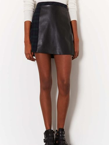 """<p>This season is all about leather minis and tartan skirts - and what better way to marry these two trends than in this hybrid tartan-leather skirt from Topshop. With a leather front and tartan back, this a-line and high-waisted skirt would look great with a cream polo-neck and some sky-high shoe boots.</p> <p>Check a-line skirt, £42, <a href=""""http://www.topshop.com/en/tsuk/product/new-in-this-week-2169932/new-in-this-week-493/check-a-line-skirt-2327584?bi=1&ps=200"""" target=""""_blank"""">Topshop</a></p> <p><a href=""""http://www.cosmopolitan.co.uk/fashion/shopping/pauls-boutique-bags-winter-2013?page=1"""" target=""""_blank"""">TEN NEW HANDBAGS FOR A/W13</a></p> <p><a href=""""http://www.cosmopolitan.co.uk/fashion/news/m-and-s-best-of-british-fashion"""" target=""""_blank"""">M&S LAUNCHES BEST OF BRITISH COLLECTION</a></p> <p><a href=""""http://www.cosmopolitan.co.uk/fashion/shopping/womens-clothing-under-ten-pounds"""" target=""""_blank"""">THE PERFECT WHITE SHIRT FOR A TENNER</a></p>"""