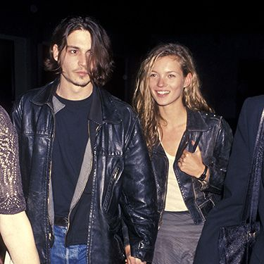 """<p>One of the couple's first public appearances - in matching leather jackets, no less - was in LA for Johnny's directorial debut, Banter, in 1994.</p><p><a href=""""http://www.cosmopolitan.co.uk/fashion/news/kate-moss-topshop-collection-ss14?click=main_sr"""" target=""""_blank"""">KATE MOSS FOR TOPSHOP - NEW COLLECTION</a></p><p><a href=""""http://www.cosmopolitan.co.uk/celebs/celebrity-gossip/rss/johnny-depp-gets-famous-family-in-frenzy-when-he-drops-by-house-3829?click=main_sr"""" target=""""_blank"""">JOHNNY DEPP GETS FAMOUS FAMILY IN A FRENZY</a></p><p><a href=""""http://www.cosmopolitan.co.uk/beauty-hair/news/beauty-news/kate-moss-launches-rimmel-london-and-topshop-collections?click=main_sr"""" target=""""_blank"""">KATE MOSS IN BURNT-EYEBROW DRAMA</a></p>"""
