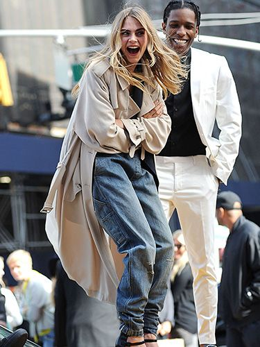 """<p>Shooting a new campaign for DKNY in New York's Times Square, Cara Delevingne ended up on top of a yellow taxi with A$AP Rocky.<br /><br />Naturally.</p> <p><a href=""""http://www.cosmopolitan.co.uk/beauty-hair/news/hairstyles/cara-delevingne-40s-hair-brazil?click=main_sr"""" target=""""_blank"""">CARA DELEVINGNE MAKES WAVES WITH 40s HAIR</a></p> <p><a href=""""http://www.cosmopolitan.co.uk/fashion/news/cara-delevingne-gorilla-trainers-brazil?click=main_sr"""" target=""""_blank"""">CARA DELEVINGNE'S CRAZY GORILLA TRAINERS</a></p> <p><a href=""""http://www.cosmopolitan.co.uk/celebs/entertainment/cara-delevingne-amanda-knox-film?click=main_sr"""" target=""""_blank"""">CARA DELEVINGNE SIGNS UP TO STAR IN NEW AMANDA KNOX FILM</a></p>"""