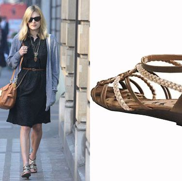 """Considering Fearne has such an incredible sense of style, it's a shame she spends so much time on the radio! Still, we can always catch a sneaky peak of the Radio 1 DJ's wardrobe as she leaves the studios. Fearne was snapped in a pair of summery gladiator sandals from her own collection, available for <p>£32, from <a href=""""http://www.very.co.uk/fearne-cotton-horizon-low-wedge-sandals/881149391.prd?browseToken=/b/1665,4294954879/s/bestsellers,0&cmsPage=fearnecottonGallery&trail=4294954879-1665""""target=""""_blank""""> very.co.uk </a></p>"""