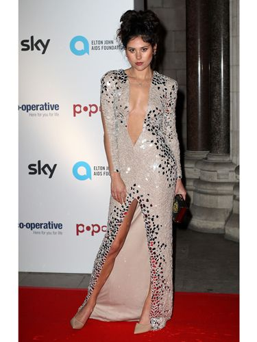 P Eliza Doolittle Dared To Bare Last Night In A Plunging Coloured