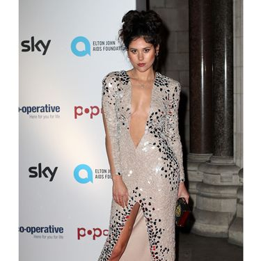 <p>Eliza Doolittle dared to bare last night in a plunging nude-coloured dress with an almighty slit. There wasn't a whole lot of material but there was a whole lot of sass going on. Kudos, Doolittle. </p>