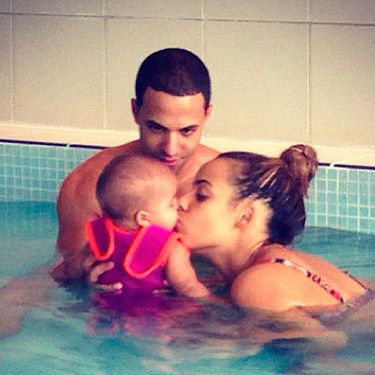 "<p>Marvin and Rochelle Humes made our hearts melt with this adorable picture of the couple taking their little girl, Alaia for an early morning swim. Rochelle captioned the snap: ""The best morning with my world"" and we can totally understand why.</p>"